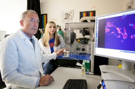 Dr. Dan Brown and bioscientist Dina Michaels